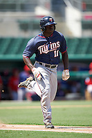 Minnesota Twins Andre Jernigan (11) during an Instructional League game against the Boston Red Sox on September 23, 2016 at JetBlue Park at Fenway South in Fort Myers, Florida.  (Mike Janes/Four Seam Images)