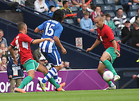 Men's Olympic Football match Honduras v Morocco on 26.7.12...During the Honduras v Morocco Men's Olympic Football match at Hampden Park, Glasgow.................