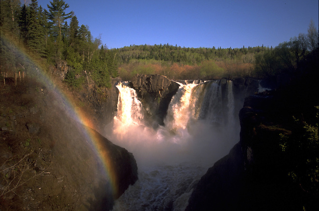 High Falls of the Pigeon River in Minnesota.