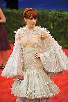 Florence Welch at the 'Schiaparelli And Prada: Impossible Conversations' Costume Institute Gala at the Metropolitan Museum of Art on May 7, 2012 in New York City. © mpi03/MediaPunch Inc.