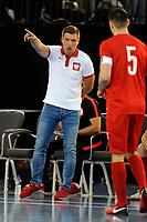 Poland Futsal manager Blazej Korczynski during England vs Poland, International Futsal Friendly at St George's Park on 2nd June 2018