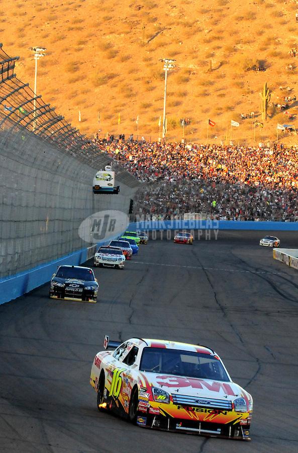 Apr 12, 2008; Avondale, AZ, USA; NASCAR Sprint Cup Series driver Greg Biffle during the Subway Fresh Fit 500 at Phoenix International Raceway. Mandatory Credit: Mark J. Rebilas-