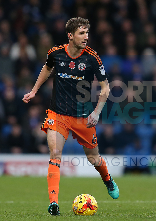 Chris Basham of Sheffield Utd during the English League One match at the Proact Stadium, Chesterfield. Picture date: November 13th, 2016. Pic Simon Bellis/Sportimage