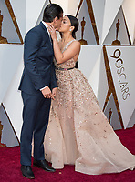 Gina Rodriguez and guest arrive on the red carpet of The 90th Oscars&reg; at the Dolby&reg; Theatre in Hollywood, CA on Sunday, March 4, 2018.<br /> *Editorial Use Only*<br /> CAP/PLF/AMPAS<br /> Supplied by Capital Pictures