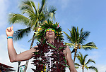 KAILUA-KONA, HI - OCTOBER 13:  Pete Jacobs of Australia celebrates after crossing the finish line to win the 2012 IRONMAN World Championships on October 13, 2012 in Kailua-Kona, Hawaii. (Photo by Donald Miralle)