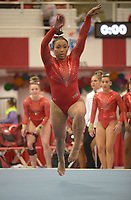 NWA Democrat-Gazette/ANDY SHUPE<br />Arkansas' Michaela Burton competes Friday, Jan. 12, 2018, in the floor portion of the 11th-ranked Razorbacks' meet with sixth-ranked Kentucky in Barnhill Arena in Fayetteville. Visit nwadg.com/photos to see more photographs from the meet.