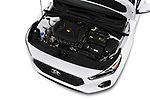 Car stock 2018 Hyundai Elantra GT GT Auto 5 Door Hatchback engine high angle detail view