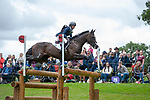 Stamford, Lincolnshire, United Kingdom, 7th September 2019, Andrea Baxter (USA) riding Indy 500 during the Cross Country Phase on Day 3 of the 2019 Land Rover Burghley Horse Trials, Credit: Jonathan Clarke/JPC Images