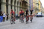 Team Sunweb riders head out for a practice run before Stage 1 of the 2019 Giro d'Italia, an individual time trial running 8km from Bologna to the Sanctuary of San Luca, Bologna, Italy. 11th May 2019.<br /> Picture: Eoin Clarke | Cyclefile<br /> <br /> All photos usage must carry mandatory copyright credit (© Cyclefile | Eoin Clarke)
