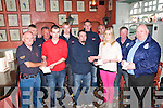 Presentation:Presentations being made on behalf of the Lynch family to the Search & Rescue services that took part in the search for Listowel man John Lynch who went missing in the river Feale earlier this year. Front ; TJ McCarron, Ballybunion, Sea & Cliff Rescue, Luke Lynch, Finbar Woulfe, Mallow Search & Rescue, Shauna Lynch & Christy Kelliher, Abbeyfeale Search & Rescue. Back : Declan O'Halloran, Fenit RNLI, John Woulfe, Mallow Search & Rescue, Gavin Walsh, Mallow Search & Rescue, Ronan Looney, Mallow Search & Rescue, John Shannon, Killarney Water & Sea Rescue & Jimmy Cahill, Abbeyfeale Search & Rescue.