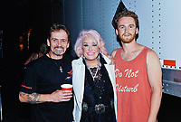 03 August 2019 - Hamilton, Ontario, Canada.  American country music legend Tanya Tucker, flanked by Noel and Ben Haggard (sons of the late Merle Haggard) backstage at the Festival of Friends 2019 held at Gage Park.  <br /> CAP/ADM/BNC<br /> ©BNC/ADM/Capital Pictures