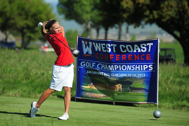 April 17, 2012; Hollister, CA, USA; Seattle Redhawks golfer Caitlin McCleary during the WCC Golf Championships at San Juan Oaks Golf Club.