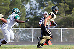 Palos Verdes, CA 10/25/13 - Rory Hubbard (Peninsula #22) and Khalil Sonko (Mira Costa #51) in action during the Mira Costa vs Peninsula varsity football game at Palos Verdes Peninsula High School.