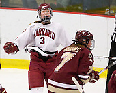 Liza Ryabkina (Harvard - 3) - The Harvard University Crimson defeated the Boston College Eagles 5-0 in their Beanpot semi-final game on Tuesday, February 2, 2010 at the Bright Hockey Center in Cambridge, Massachusetts.