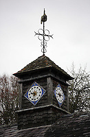 Pictured: The clock tower at the house of Sidney Nolan Friday 02 December 2016<br /> The Sidney Nolan Trust, Rodd, Herefordshire, England, UK