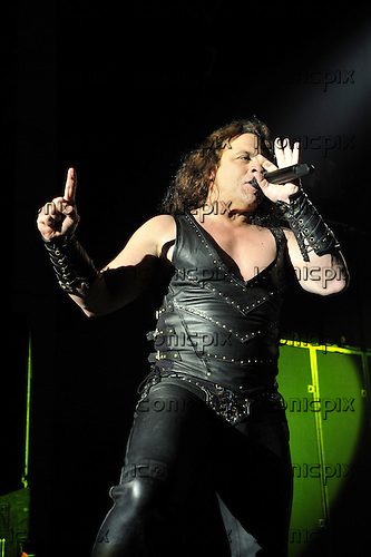 Manowar - vocalist Eric Adams performing live in on the Death To Infidels Tour of Germany - January 2010.  Photo credit: IconicPix