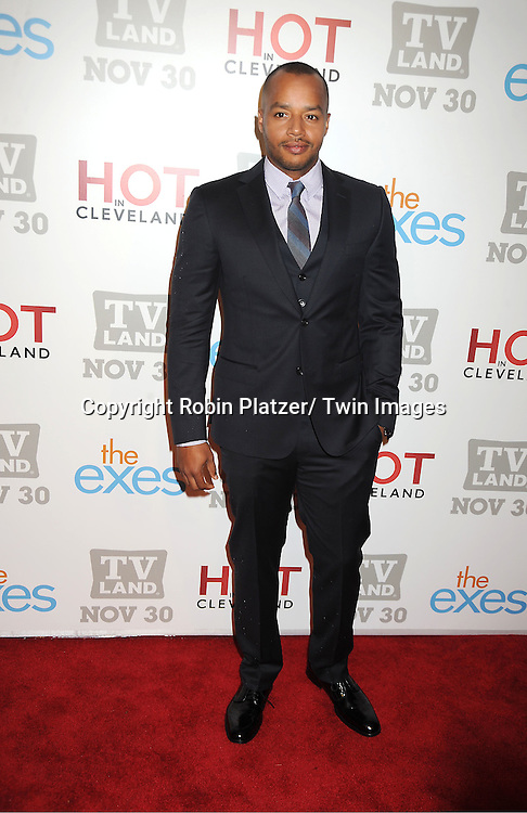 """Donald Faison attends the TV Land Party for the  premieres of """"Hot In Cleveland"""" and """"The Exes""""  on November 29, 2011 at SD26 in New York City. the party also celebrated Toys for Tots."""