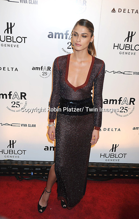 Elisa Sednaoui attending the amfAR New York Gala on February 9, 2011 at Cipriani Wall Street in New York City. Dame Elizabeth Taylor, President Bill Clinton and Diane von Furstenberg were honored.