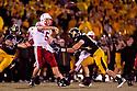 08 October 2009: Nebraska quarterback Zac Lee throws a pass to Rex Burkhead against Missouri at at Memorial Stadium, Columbia, Missouri. Nebraska defeated Missouri 27 to 12.