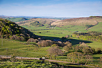 Hodder Valley looking from Long Knots, Lancashire.
