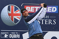 Robert Karlsson (SWE) on the 10th tee during the Pro-Am of the Betfred British Masters 2019 at Hillside Golf Club, Southport, Lancashire, England. 08/05/19<br /> <br /> Picture: Thos Caffrey / Golffile<br /> <br /> All photos usage must carry mandatory copyright credit (&copy; Golffile | Thos Caffrey)
