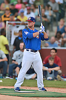 Chattanooga Lookouts outfielder Scott Schebler #8 awaits a pitch during the Southern League Home Run Derby at Engel Stadium on June 16, 2014 in Chattanooga, Tennessee.  (Tony Farlow/Four Seam Images)