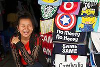 "Phnom Penh, Cambodia. Central Market. ""No Money, No Honey!"""