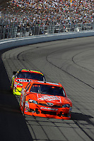 Joey Logano (#20) and Jeff Gordon (#24)