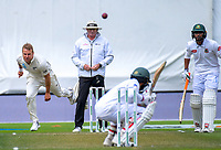 Neil Wagner bowls a bouncer during day five of the international cricket match between NZ Black Caps and Bangladesh at the Basin Reserve in Wellington, New Zealand on Tuesday, 12 March 2019. Photo: Dave Lintott / lintottphoto.co.nz