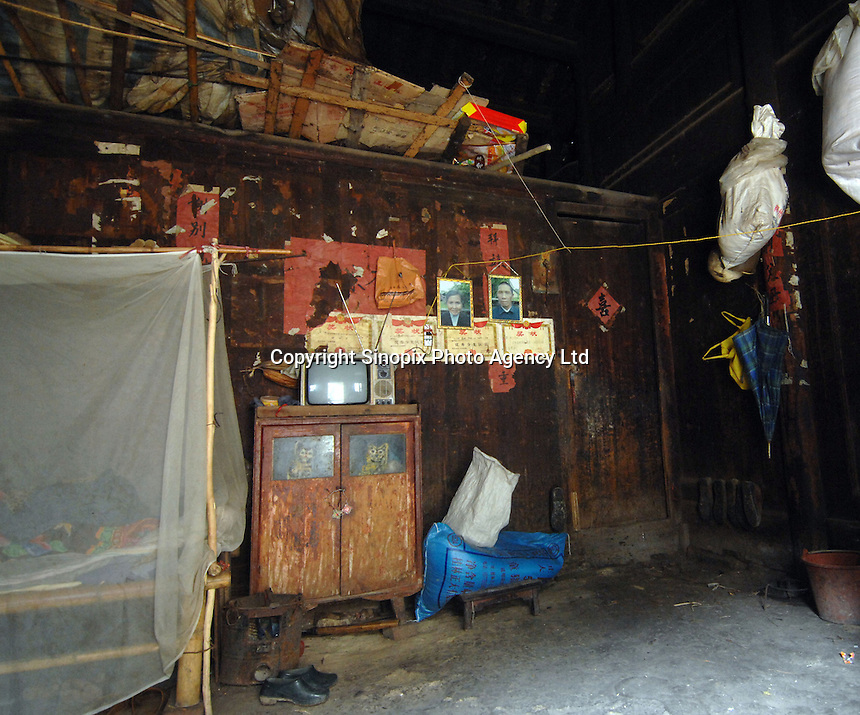 Inside the farm house of a typical village in Guangxi Province, China..