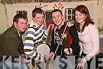 Trad Band: Enjoying the Eigse Dhiarmuid Ui Chathain in the Ceolann, Lixnaw, on Sunday afternoon were Niall Flahive, Kilcummin, Shane Lynch, Ballymacelligott, Padraig Creedon, Glenflesk, and Melissa O'Riordan, Ardfert..