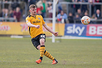 Kieran Parselle of Newport County during the Sky Bet League 2 match between Newport County and Notts County at Rodney Parade, Newport, Wales on 30 April 2016. Photo by Mark  Hawkins / PRiME Media Images.