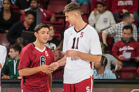 Stanford, CA, January 10, 2015<br /> Stanford Men's Volleyball vs. Loyola Chicago in Maples Pavilion. AVCA Showcase. Stanford lost 3.0.