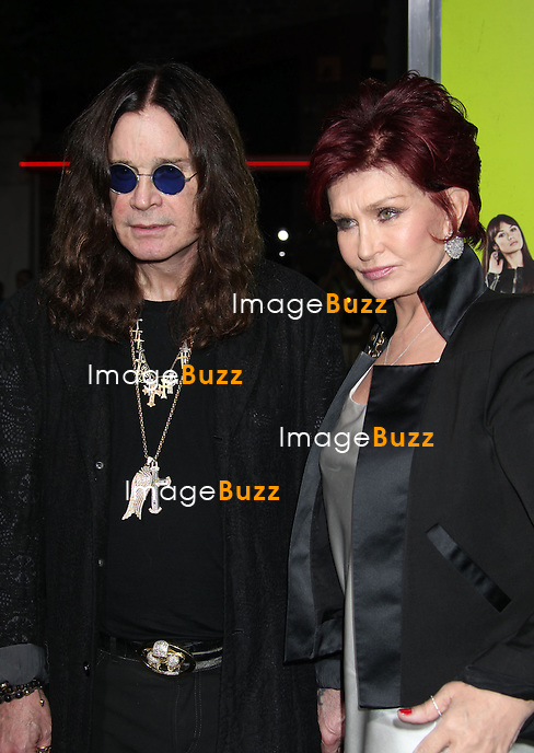 Ozzy Osbourne, Sharon Osbourne, CBS Films premiere for Seven Psychopaths at Mann's Bruin Theatre in Los Angeles..October 1, 2012.