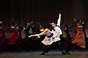 Mariinsky Ballet presents CINDERELLA as part of the Edinburgh International Festival. Picture shows: Islom Baimuradov (as dance teacher) and Nadezhda Bateova (as dance teacher).