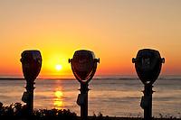Sunrise binoculars , Chatham, Cape Cod, MA, Massachusetts, USA