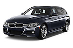 2015 BMW 3 Series 328d xDrive Sports Wagon 5 Door Wagon Angular Front stock photos of front three quarter view