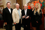 Beverly Hills Police Chief David Snowden, Richard S Rosenzweig, Hugh Hefner, Dr Lois Lee, Dyan Cannon at a ceremony where Hugh Hefner receives first founder's 'Hero of the Hearts' award from Children of the Night on November 18, 2010 in Van Nuys, Los Angeles, California.