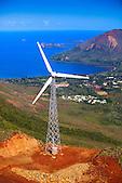 Eoliennes de Plum sur le Mont Négandi, commune du Mont-Dore, Nouvelle-Calédonie