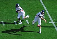 Nov. 28, 2009; Tempe, AZ, USA; Arizona Wildcats quarterback (8) Nick Foles throws a pass against the Arizona State Sun Devils at Sun Devil Stadium. Arizona defeated Arizona State 20-17. Mandatory Credit: Mark J. Rebilas-