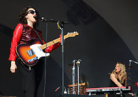 Anna Calvi performing live on stage during the All Points East Festival at Victoria Park  in London on May 25th 2019<br /> <br /> Photo by Keith Mayhew
