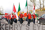 The Dingle Fife and Drums Band heading the parade along the streets of Dingle during St. Patrick's day on Monday.