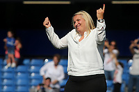 Chelsea Women's Manager, Emma Hayes seems to indicate it was only 1-0, but enough at the end of the match during Chelsea Women vs Tottenham Hotspur Women, Barclays FA Women's Super League Football at Stamford Bridge on 8th September 2019