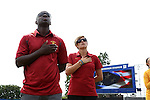 06 September 2015: USC head coach Keidane McAlpine (left) with assistant coach Jen Klein. The University of North Carolina Tar Heels played the University of Southern California Trojans at Koskinen Stadium in Durham, NC in a 2015 NCAA Division I Women's Soccer match. UNC won the game 2-1.