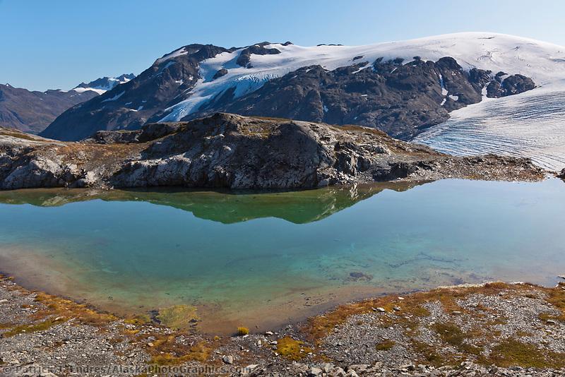 Snow machine, Canwell Glacier, Alaska mountain range, Alaska.