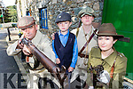 Danny Flynn, eric Flynn, Jennifer Sherlock and Ciara Griffin dressed as 1916 revolutionists for the Milltown 1916 commemorations on Sunday