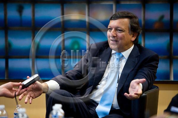 BRUSSELS - BELGIUM - 03 SEPTEMBER 2009 -- President of the European Commission José Manuel Barroso during an interview.  Photo: Erik Luntang/EUP-IMAGES
