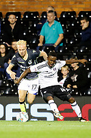Fulham's Steven Sessegnon fends off Bristol Rovers' Ryan Broom during the Carabao Cup match between Fulham and Bristol Rovers at Craven Cottage, London, England on 22 August 2017. Photo by Carlton Myrie.