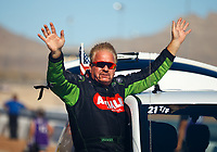Oct 29, 2017; Las Vegas, NV, USA; NHRA top fuel driver Terry McMillen during the Toyota National at The Strip at Las Vegas Motor Speedway. Mandatory Credit: Mark J. Rebilas-USA TODAY Sports