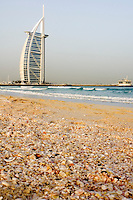 United Arab Emirates, Dubai, Burj Al Arab from Jumeirah Beach